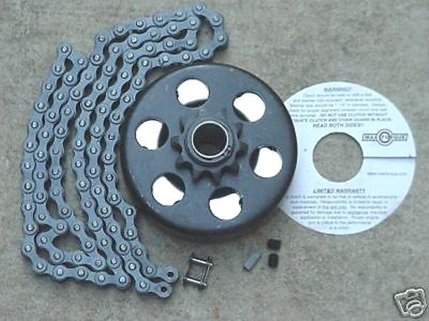 Minibike Parts Go  Kart 3 4  Bore Clutch & 4ft Chain  considerate service