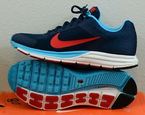 tanto Intención Dinámica  NEW Mens Nike Zoom Structure+ 17 Size 8 Navy/Blue/Red/White Running (Nike  Plus) | eBay