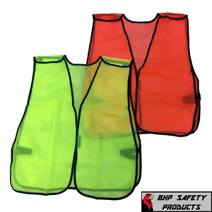 SIZES S to 4XL GENERAL PURPOSE SAFETY VEST MESH HIGH-VISIBILITY BREAKAWAY