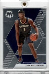 2019-20-Panini-Mosaic-209-Zion-Williamson-Rookie-Base-Chrome-Pelicans-PSA-10