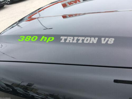 380 hp TRITON V8 vinyl hood decals emblem Fits FORD F150