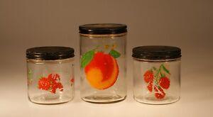 Incroyable Image Is Loading Set Of 3 Vintage Kitchen Crystal Glass Jars