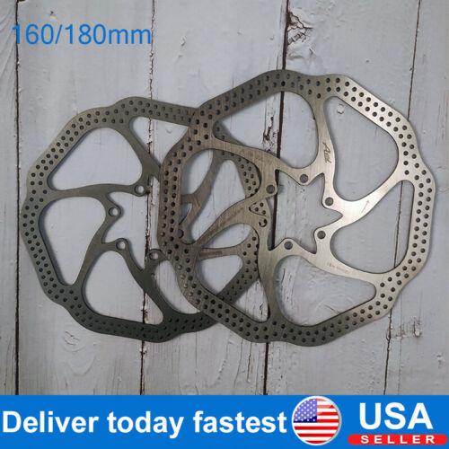 Mountain Bike 160mm//180mm Disc Brake Rotors Cycling Brake Rotor With 6 Bolts US