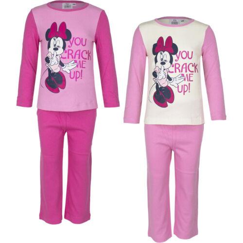 Neu Pyjama Set Schlafanzug Mädchen Minnie Mouse beige rosa pink 98 104 116 #93