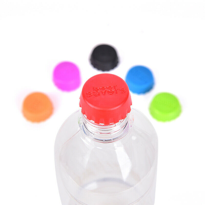 6pcs Reusable Silicone Bottle Caps Beer Cover Soda Cola Lid Wine Saver StoppGY
