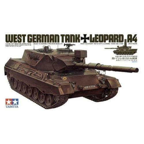 Tamiya 35112 1/35 German Leopard Tank A4 Plastic Model Kit Brand New