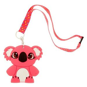 3670633e2e10 Details about Kylie the Koala Silicone ID Holder Lanyard Keychain Document  Holder Key Chain
