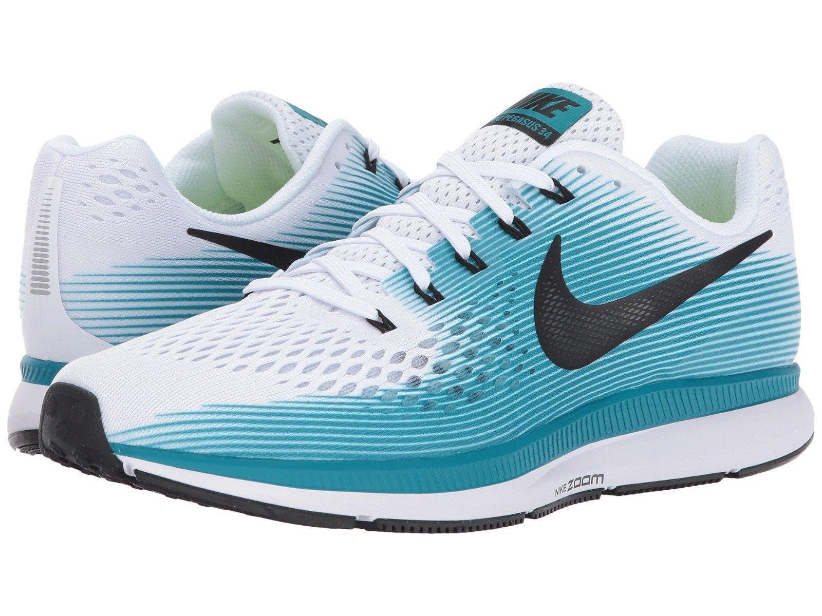 New Nike Men's Air Zoom Pegasus white 34 Size 7 - white Pegasus black blue running 880555-101 3ae309