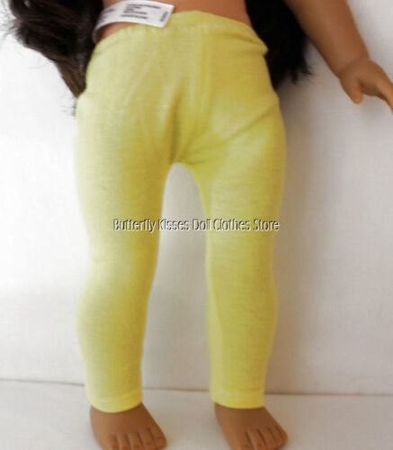 Yellow Leggings 18 in Doll Clothes Fits American Girl