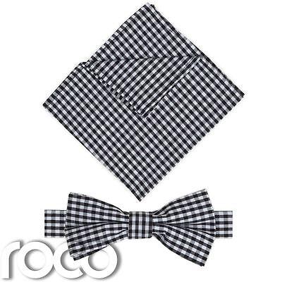 Vendita Economica Nero Da Ragazzo Fasciato Dickie Fiocco E Tasca Quadrato Set,percalle Cravatta