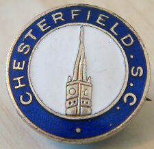 CHESTERFIELD FC Vintage SUPPORTERS CLUB Badge Brooch pin In gilt 22mm Dia