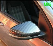 GOLF CARBON FIBRE DIPPED EFFECT WING MIRRORS GTD GTI R TDI TOURAN VW MK6