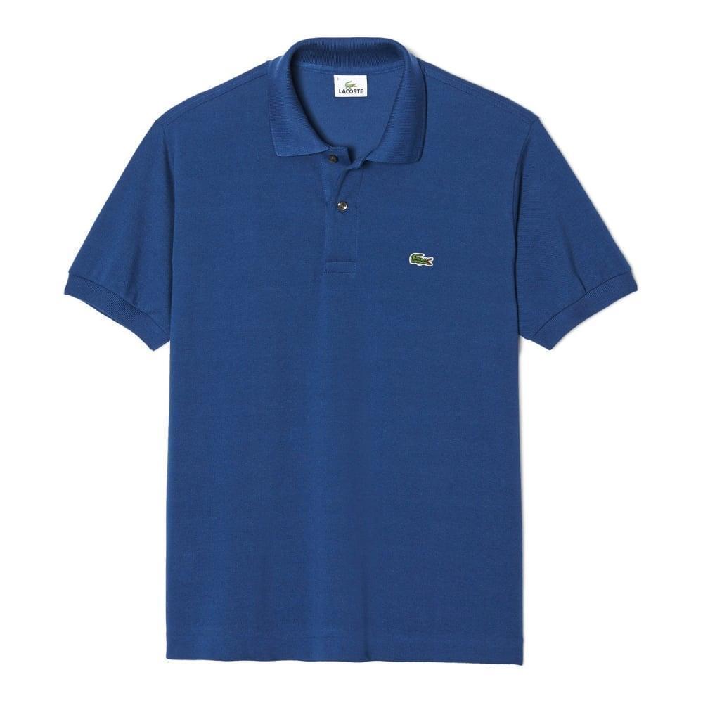 Lacoste Men's L1212 Polo Shirt Size 4 Philippines bluee Medium Genuine