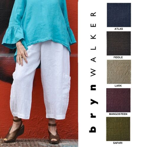 BRYN WALKER Light Linen  CASBAH PANT  Crop Pocket Pants  1X  2X  3X  SPRING 2019