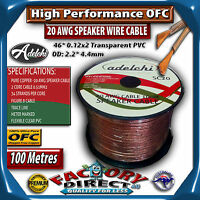 100m High Performance 20awg 0.51mm2 100% Ultra Pure Ofc Audio Cable Speaker Wire