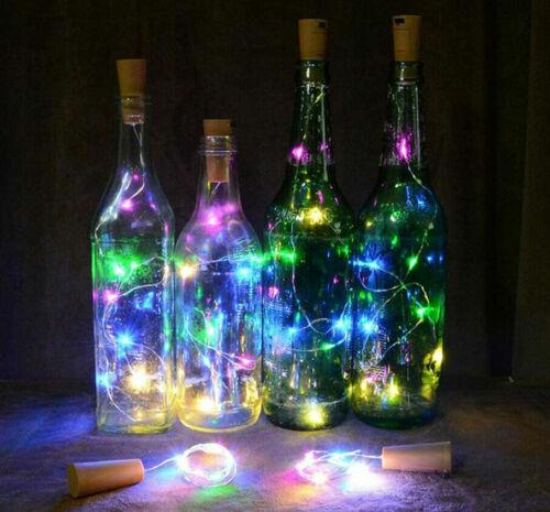 LED Bottle Light Wine Copper Wire String light bulb Cork Festival Party Decor