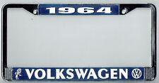 1964 Volkswagen VW Bubblehead Vintage California License Plate Frame BUG BUS T-3
