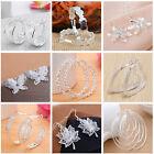 Fashion Women Jewelry 925 Sterling Silver Plated Lady Hoop Dangle Earring Stud