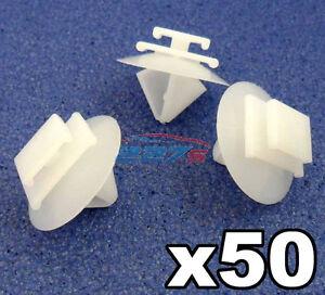 50x Clips Moulage Peugeot Côté / Rubstrip Garniture En Plastique Clips / Fermoir Clips-afficher Le Titre D'origine Exquis (En) Finition