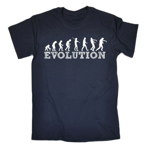 EVOLUZIONE UOMO ZOMBIE divertente scherzo Halloween Morti Viventi Spaventoso T-shirt