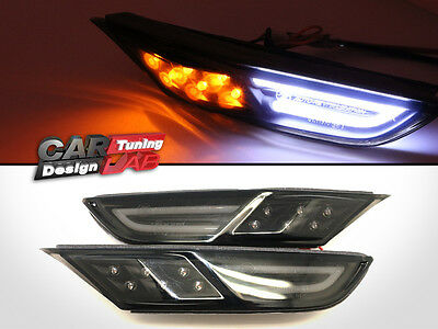 SMOKE Front LED Side Markers Lights Indicators Repeaters+DRL Fits Nissan R35 GTR