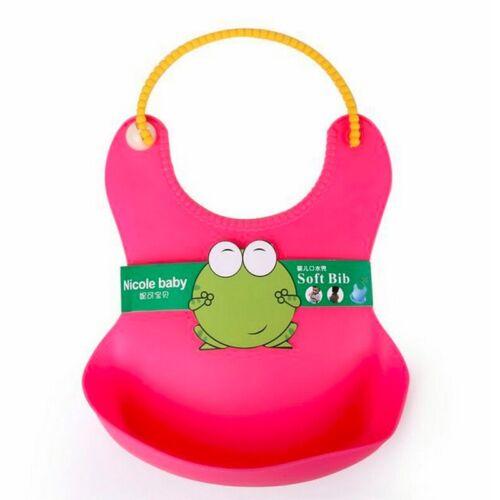 Baby Stereo Bib Waterproof Silicone Pick Rice Pocket Cartoon Cute Child Baby Bid