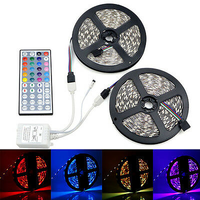 5050 RGB LED Strip Decorative Light Tape Ribbon with 44keys IR Remote Controller
