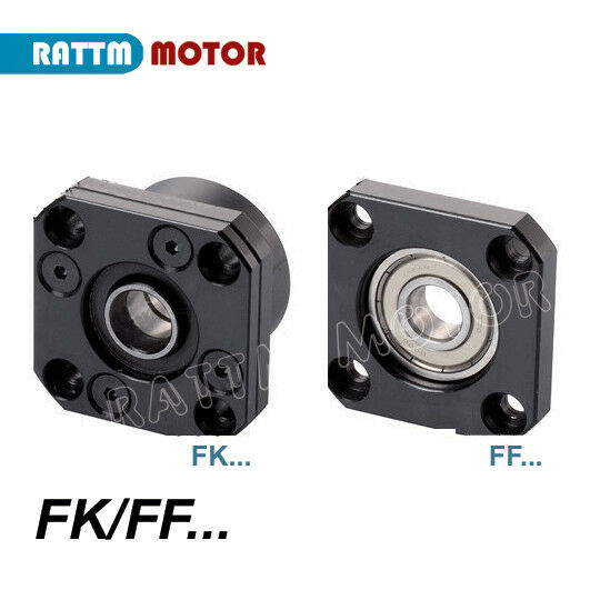 FK//FF10 Ball screw end support with Angular contact bearing FK10 FF10 each 1