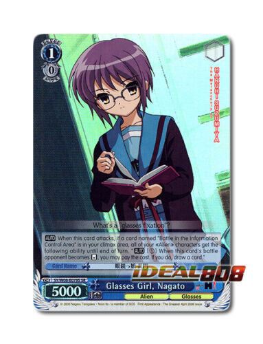 Weiss Schwarz Haruhi x 1 Glasses Girl, Nagato [SY/W08-E079S SR (FOIL)] English