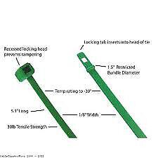 "7.87/"" 18lb Natural Cable Ties 1000//bag Part # M8-18-9M"