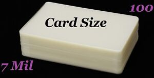 Card Size Hot Laminating Pouches Laminator Sleeves 2-1//2 x 4-1//4 100 pk 5 Mil