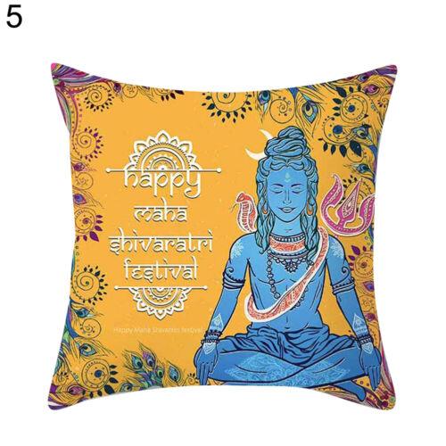 Indisch Ganesha Buddha Kissenbezug Eckig Taille Kissenbezug Wohndeko Neuheit E