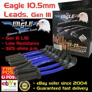 Eagle-Spark-Plug-Leads-10-5mm-Fits-Holden-Chev-V8-LS1-5-7L-VT-VX-VY-VZ-Blue