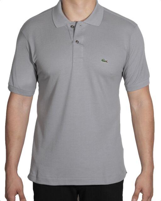 b74506edf278 Lacoste Men s Short Sleeve Classic Cotton Pique Polo Shirt L1212-51 KC8 GREY