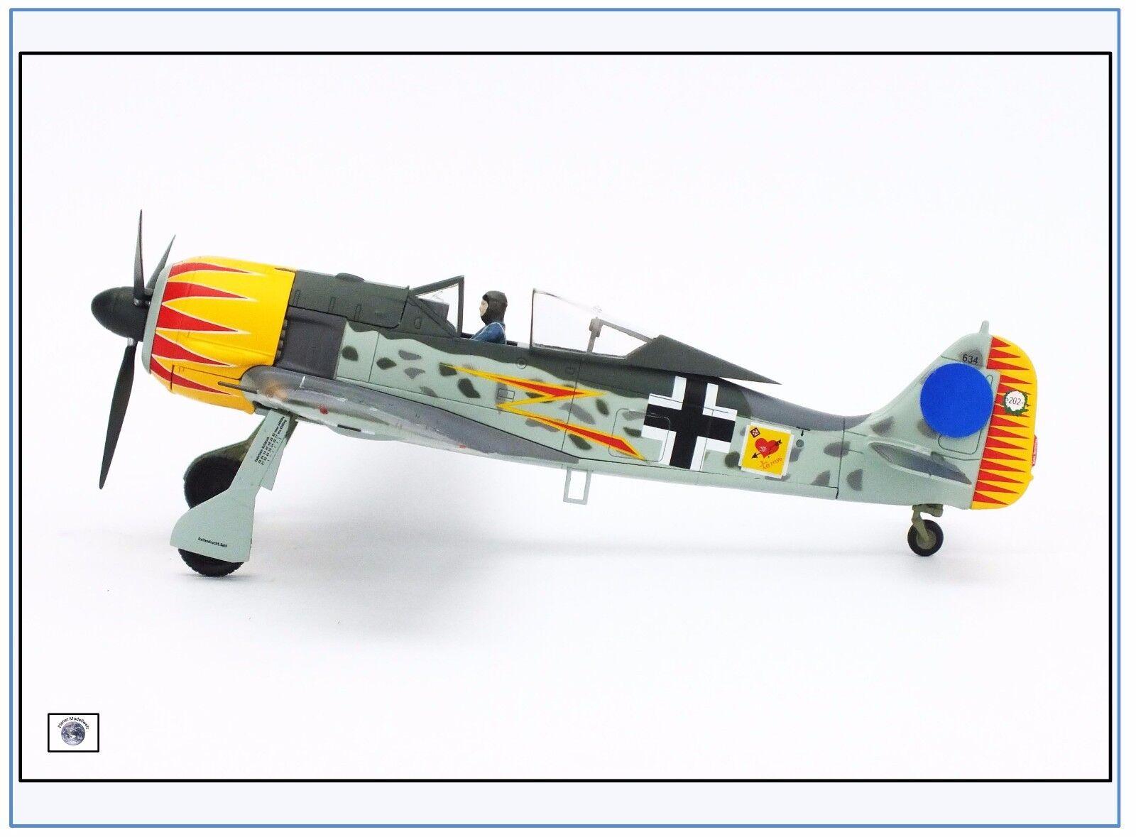 Ha7419 fw-190a-4 stabilirono 2, Francia 1943, HOBBYMASTER HOBBYMASTER HOBBYMASTER 1:48, nuovo 2/17 & 04c51a