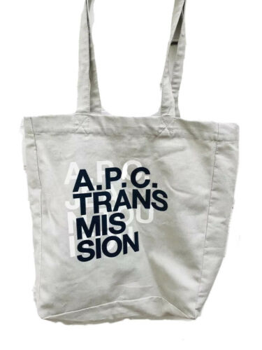 A.P.C Transmission light grey tote bag totebag - … - image 1