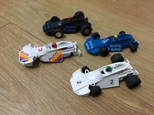 Scalextric-coche-vintage-Brabham-combinado-C120-Lote-4-Slot-Cars-De-Trabajo