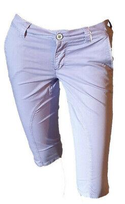 Bermuda Shorts Pantaloncino Pinocchietto Leggero Lilla Donna Casual Siviglia 39