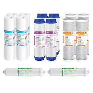 14 Pack Home RO Water Filter Replacement Set Fit 5 Stage Reverse Osmosis System