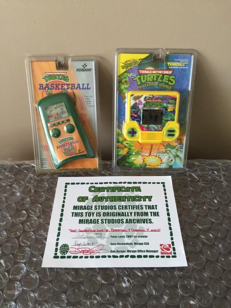 TMNT HANDHELD VIDEO GAME LOT  BASKETBALL, DIMENSION X X X ASSAULT Ninja Turtles MOC de7448