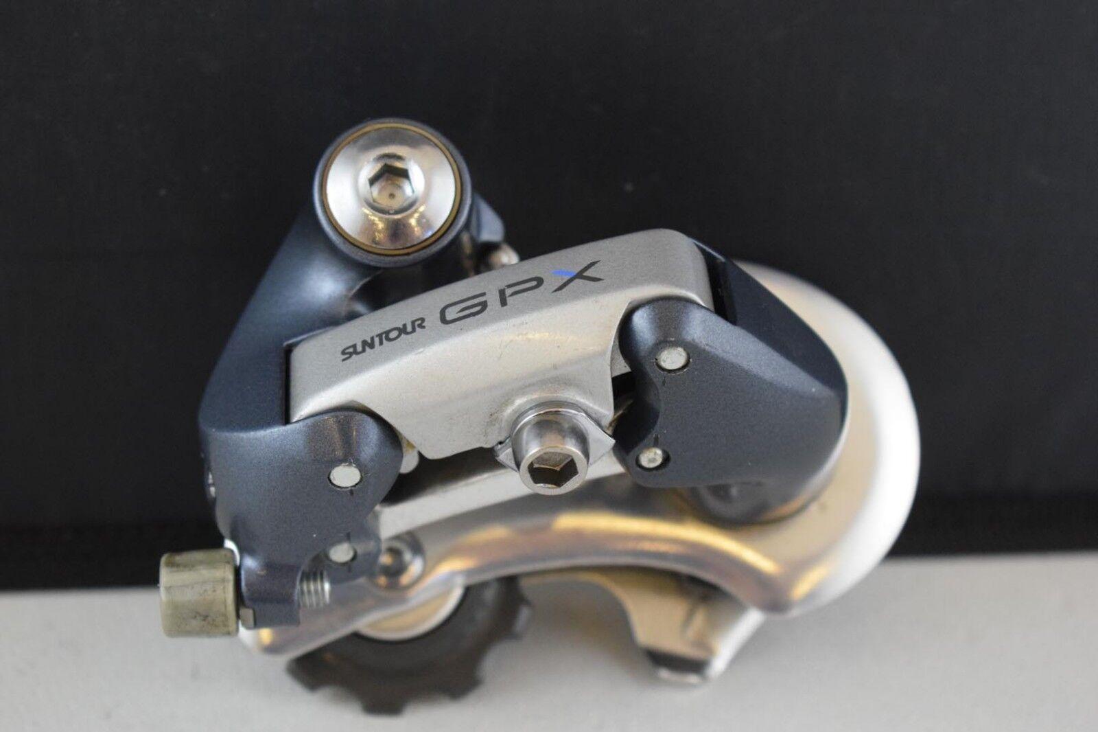 Suntour GPX desviador trasero corto Jaula Vintage índice nos de Aleación Azul gris
