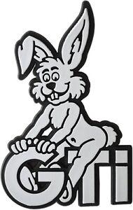 Bunny-Relief-Emblem-Schild-3D-GTi-Hase-Haeschen-Rabbit-HR-Art-4906-selbstklebend