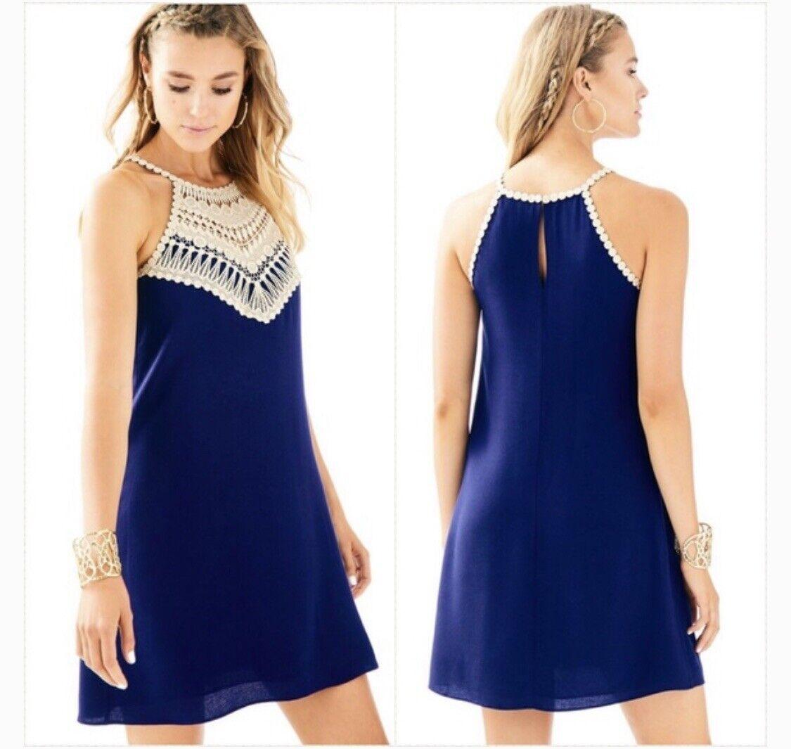 Nuevo con etiquetas  LILLY PULITZER Perla Suave Cambio Vestido Verdadero Azul Marino Talla  2  178  tienda en linea