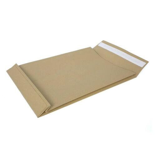 Strong Brown Paper Envelope 120g//m2 RBD Gusset C4 229x324x38mm