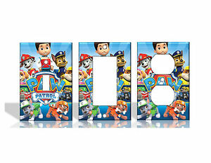 Paw Patrol Chase Rider Marshall Skye Light Switch Covers Home ...