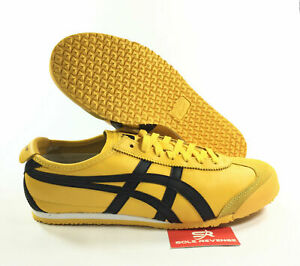 asics onitsuka tiger mexico 66 black yellow zip on