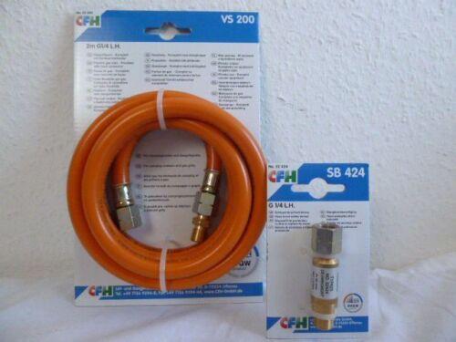CFH Set GAS TUBO 2 M 1//4 SX filettatura vs200 52450 ROTTURA TUBO backup
