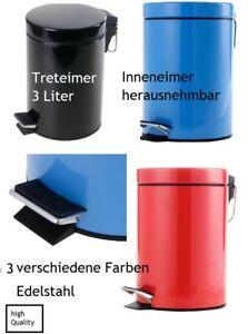 Restmülleimer mit Deckel und Inneneimer 3 L kleiner Mülleimer universal