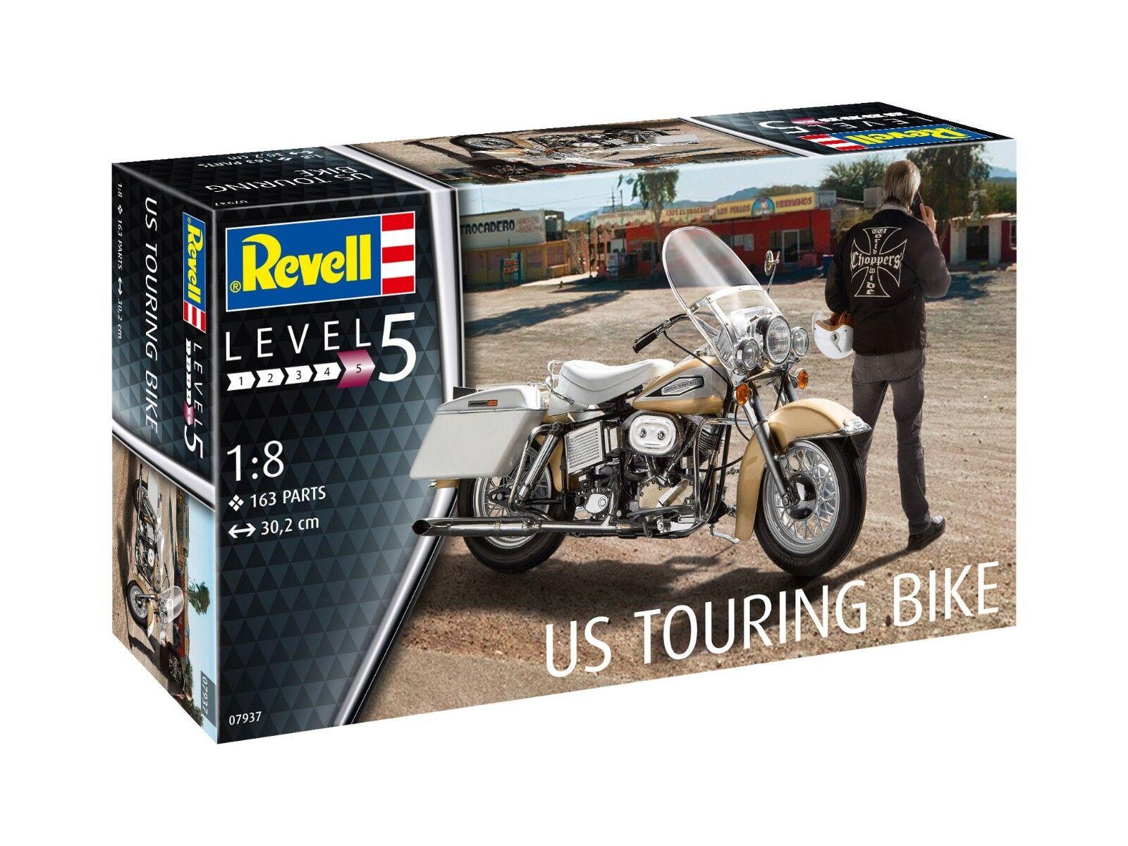 REVELL US Touring Bike 1 8 Bike Model Kit 07937