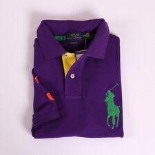 NEW Polo Ralph Lauren Men's Big Pony Custom Fit Shirt Purple M